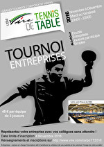 Tournoi corporatif de Tennis de Table 2016 de l'USM Vire